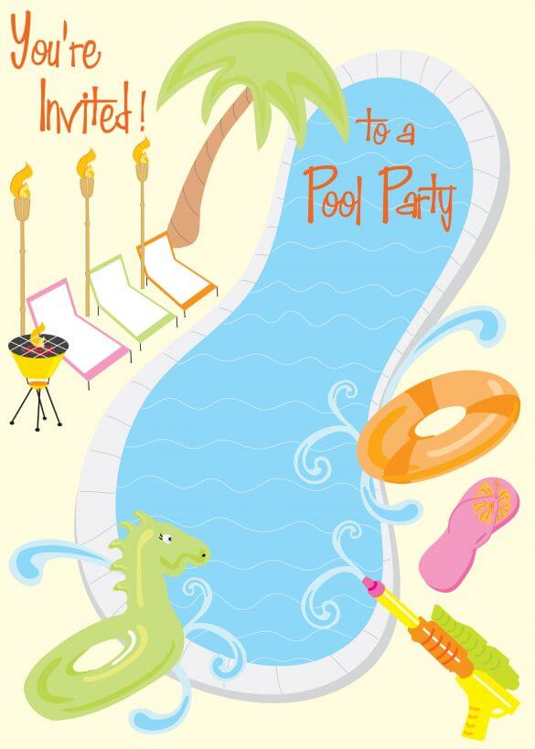 Pool Party Invitation E-Card