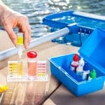checking pool chemical levels