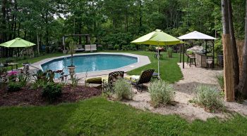 pool landscaping shade structures umbrella