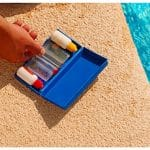 small case of pool care chemicals